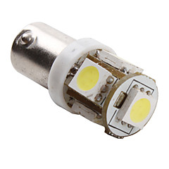 BA9S 1W 5x5050 SMD White Light LED Bulb for Car (DC 12V, 2-Pack)