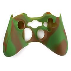 X 박스 360 컨트롤러 (갈색 및 녹색)에 대한 보호 듀얼 컬러 실리콘 케이스
