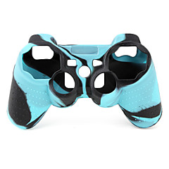Protective Dual-Color Style Silicone Case for PS3 Controller (Blue and Black)