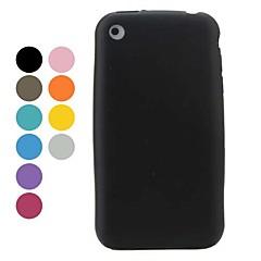 yksinkertainen tyyli pii pehmeä kotelo iPhone 3G ja 3GS (valikoituja värejä)