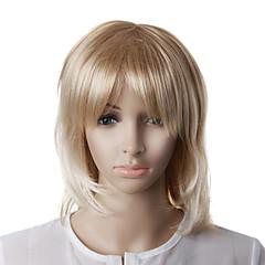 Capless mode blonde rechte golvend haar pruik