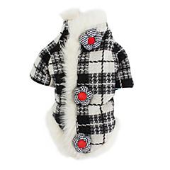 honden Jassen Zwart Hondenkleding Winter / Lente/Herfst Geruit Klassiek / Houd Warm