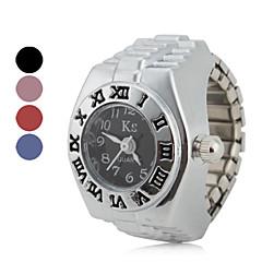 roman style kobiet liczebnik felgi analogowy zegarek kwarcowy ring (różne kolory)