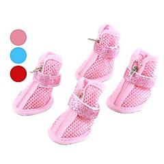 zapatos de cintas de sujeción de nylon estilo malla brillo para los perros (XS-XL, colores surtidos)