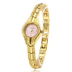 femmes en alliage mode de style analogique bracelet montre à quartz (or)