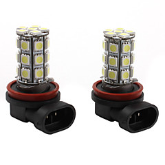 H11 27*5050 SMD White LED Car Signal Light