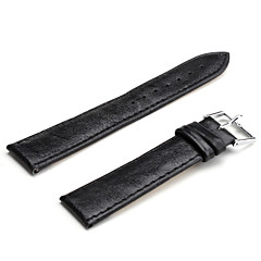Unisex PU Leather Watch Strap 20MM(Black)