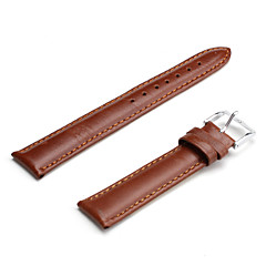 Unisex Genuine Leather Watch Strap 18MM(Brown)