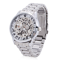 Men's Alloy Analog Mechanical Casual Watch (Silver)