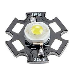 6000-6500K 0.5W 50-60lm 150mAh valkoista led lamppu alumiinilevy (3,0-3,4 V)