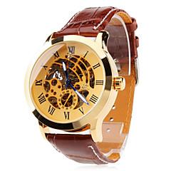 Мужские аналоговые механические автоматические часы (коричневые)