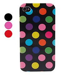 Pistekuvioinen silikonikuori iPhone 4/4S:lle (värivalikoima)
