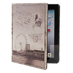 PU-Läderfodral med Stativ för Nya iPad och iPad 2