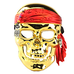 Electroplating Pirate Skull Face Mask for Halloween Costume Party