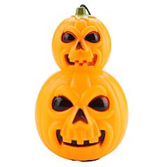 Halloween Pumpkin Estilo Lanterna Lâmpada Mão com vermelho / azul LED piscando (3 x AG13)