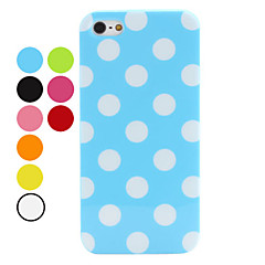Etui Souple à Pois pour iPhone 5 - Assortiment de Couleurs