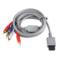 Koper Plating Component Audio en Video AV Kabel voor Wii - Grijs (2.0M)