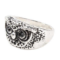 Owl Shape Sliver Plate Ring