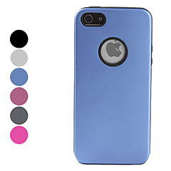 Protective Metal Back Case for iPhone 5/5S (Assorted Colors)
