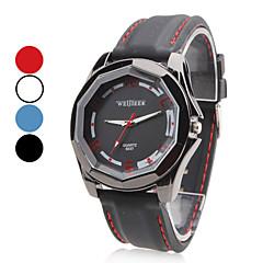 Men's Plastic Analog Quartz Wrist Watch (Black)