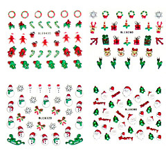4PCS Christmas Gift 3D Plastic Twinkle Nail Art Nail Decorations