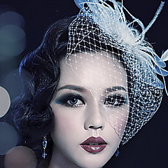 Kobiety Pióro Tiul Winieta-Ślub Piękny Na wolnym powietrzu Welony Birdcage