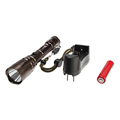 HuoMingWei 1220 5-Mode Cree XM-L T6 LED Flashlight Set (1000LM, 1x18650, Copper)