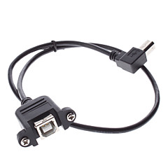 USB-B Male naar USB-B Female Adapter Extend Cable