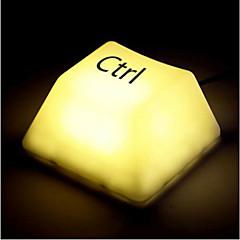 Creative Fashion Touch Keypress LED Light Desk Night Lamp (3xAA/USB)