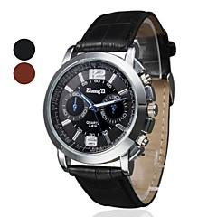 menn virksomhet stil PU skinn band kvarts håndleddet watch (assorterte farger)