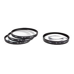 4pcs 62mm Close-Up Kit filtre pour appareil photo avec sac filtrant (+1, +2, +4, +10)