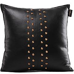 Classic Solid Faux Leather decoratieve Kussensloop