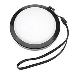 MENNON 72mm kamera vitbalans Linsskydd Lock med Handrem (Svartvitt)