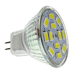 6W GU4(MR11) Spot LED MR11 12 SMD 5730 570 lm Blanc Naturel DC 12 V