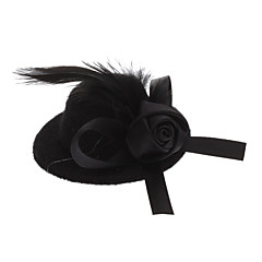 Pets Lovely Lady Rose Billycock Style Hairpin for Dogs Cats (Assorted Color)