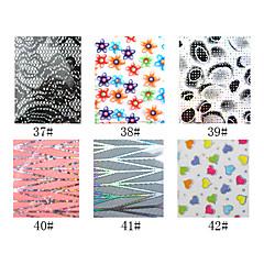 1pcs laser folie nageldecoratie sterrenhemel nagel stickers no.37-42 (130x4.5x0.1cm, diverse kleuren)