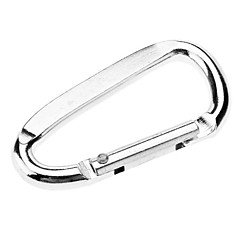 Small D Shaped Aluminum Alloy Carabiner(Silver)