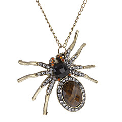 Vintage Gems Fully-jewelled Spider Alloy Necklace Sweater Chain