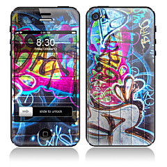 Scrawl Design Front and Back Full Body Stickers for iPhone 5