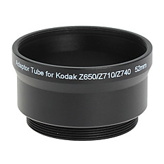 52mm linse og Filter Adapter Tube for Kodak Z650/Z740 BLACK