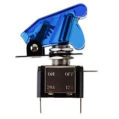 Fai da te LED blu illuminato Toggle On / Off per auto (12V 20A)