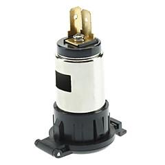20624 Water Resistance DIY Cigarette Lighter Socket for Motorcycle / Vehicle - Black (DC 12V)