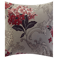 Traditional Floral Jacquard Decorative Pillow Cover