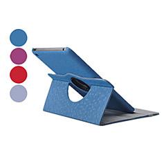 diamant roterande pu läderväska w / stativ för iPad mini 3, iPad Mini 2, iPad Mini (blandade färger)