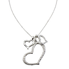 Three Plump Heart Necklace