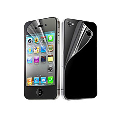 6X Clear Front and Back Screen Protector for iPhone 4/4S