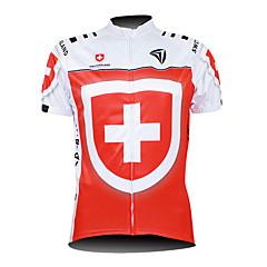 KOOPLUS® Maglia da ciclismo Per uomo Maniche corte Bicicletta Traspirante / Zip impermeabile / Zip anteriore / Indossabile