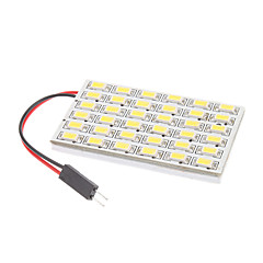 T10/BA9S/Festoon 8W 36x5730SMD Natural White Light LED pære til bil Reading Lamp (12V)