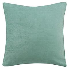 Chenille Solid Blauw Polyester Decoratieve Kussensloop