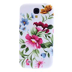 Lila blommönster Mjuk Väska till Samsung Galaxy S4 I9500
